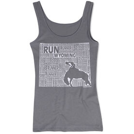 Women's Athletic Tank Top Wyoming State Runner