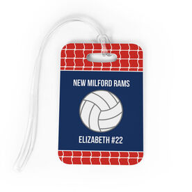 Volleyball Bag/Luggage Tag - Personalized Volleyball Team with Ball