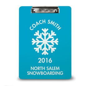Skiing Custom Clipboard Personalized Ski Snowboard Coach