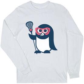 Girls Lacrosse Long Sleeve T-Shirt - Penguin