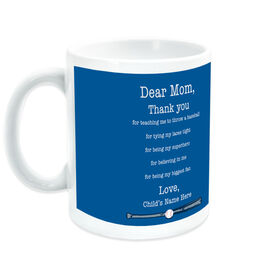 Baseball Coffee Mug Dear Mom Thank You