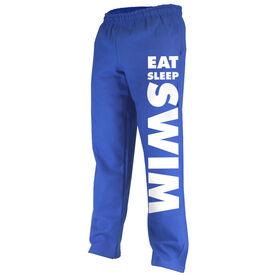 Swimming Fleece Sweatpants Eat Sleep Swim