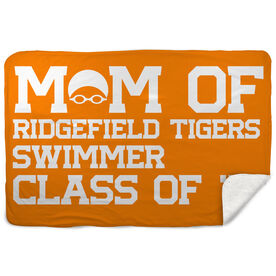 Swimming Sherpa Fleece Blanket - Personalized Swim Mom