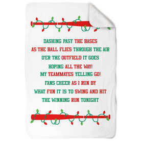Softball Sherpa Fleece Blanket - Jingle All The Way