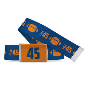 Football Lifestyle Belt Number Pattern