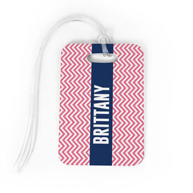 Personalized Bag/Luggage Tag - Personalized Chevron