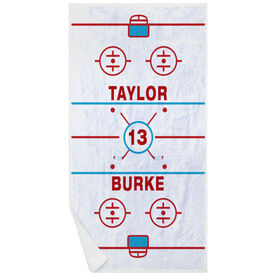 Hockey Premium Beach Towel - Personalized Ice Rink