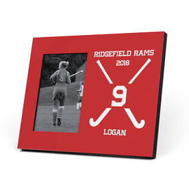 Field Hockey Photo Frame - Crossed Field Hockey Sticks