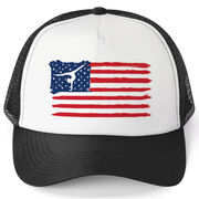 Gymnastics Trucker Hat - American Flag