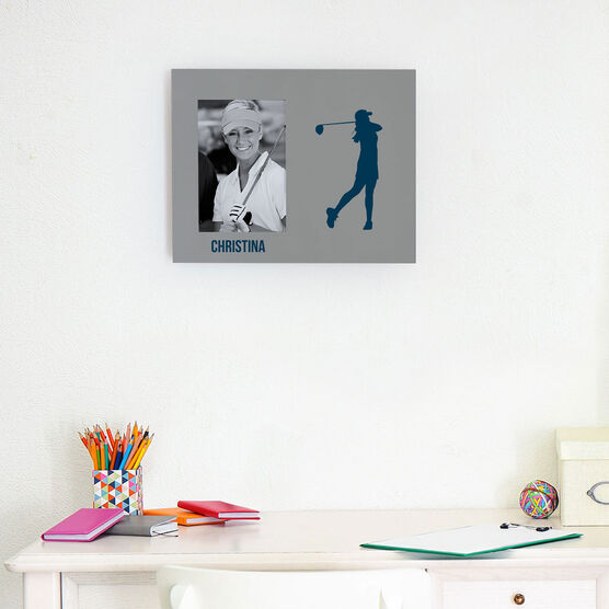 Golf Photo Frame - Female Silhouette