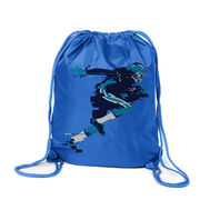 Football Sport Pack Cinch Sack In the Blur of A Moment