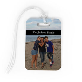Personalized Bag/Luggage Tag - Custom Photo with Text