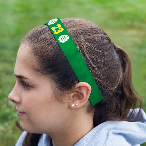 Basketball Julibands No-Slip Headbands - Ball Icons with Number