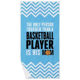 Basketball Premium Beach Towel - Tougher Than A Player