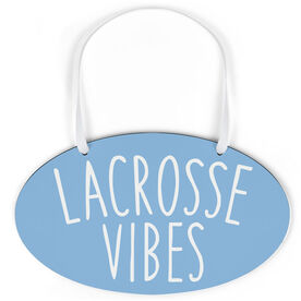 Girls Lacrosse Oval Sign - Lacrosse Vibes