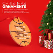Basketball Round Ceramic Ornament - Jingle All the Way