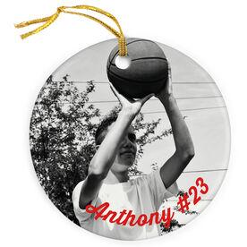 Basketball Porcelain Ornament Custom Photo Basketball