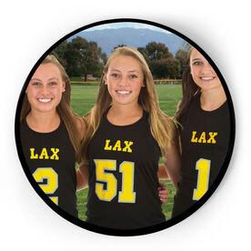 Girls Lacrosse Circle Plaque - Custom Photo
