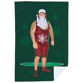 Wrestling Premium Blanket - Wrestling Santa