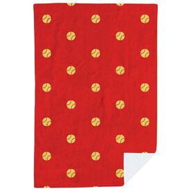 Softball Premium Blanket - Polka Dots