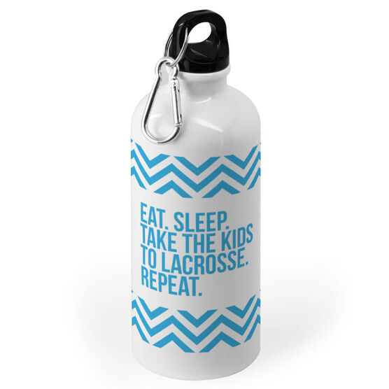 Lacrosse 20 oz. Stainless Steel Water Bottle - Eat Sleep Take The Kids To Lacrosse