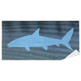 Fly Fishing Premium Beach Towel - Bonefish with Silhouette