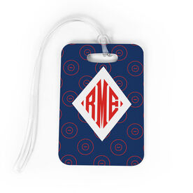 Wrestling Bag/Luggage Tag - Personalized Wrestling Pattern Monogram