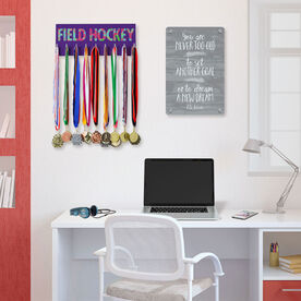 Field Hockey Hooked on Medals Hanger - Floral