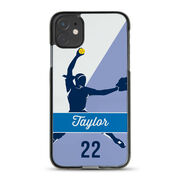 Softball iPhone® Case - Personalized Pitcher Name And Number