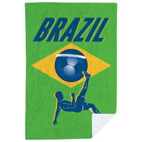 Soccer Premium Blanket - Brazil Soccer