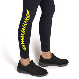 Softball Leggings Softball Stitches