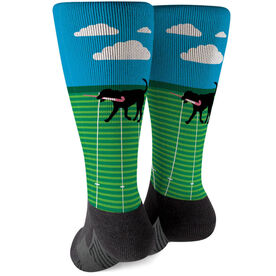 Field Hockey Printed Mid-Calf Socks - Flick The Field Hockey Dog
