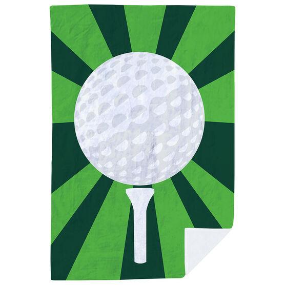 Golf Premium Blanket - Ball And Pin