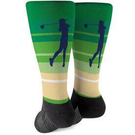 Golf Printed Mid-Calf Socks - Female Golfer