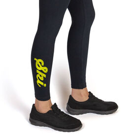 Skiing Leggings Ski Script