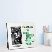 Football Photo Frame - Football Father Words