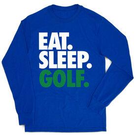 Golf Tshirt Long Sleeve - Eat. Sleep. Golf
