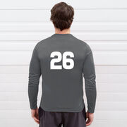 Hockey Long Sleeve Performance Tee - My Goal Is To Deny Yours Hockey (Black/Yellow)