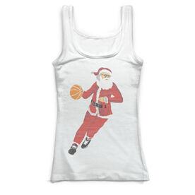 Basketball Vintage Fitted Tank Top - Santa Hoops