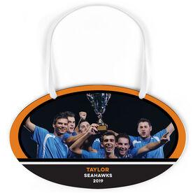 Soccer Oval Sign - Team Photo