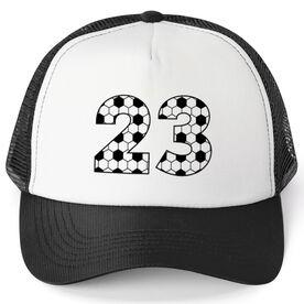 Soccer Trucker Hat - Custom Numbers