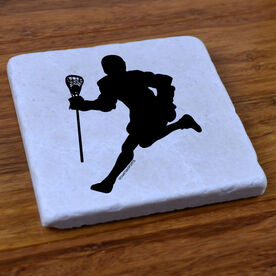 Lacrosse Player - Stone Coaster