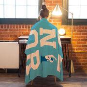 Wrestling Premium Blanket - Personalized Senior