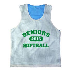 Girls Softball Racerback Pinnie Personalized Seniors Softball Green