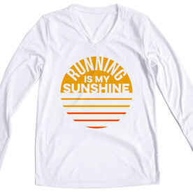 Women's Long Sleeve Tech Tee - Running is My Sunshine