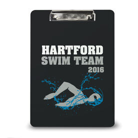 Swimming Custom Clipboard Swim Team Personalization Womens