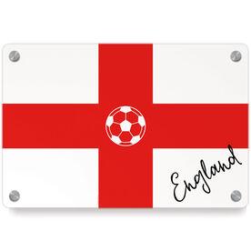 Soccer Metal Wall Art Panel - England