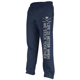 Hockey Fleece Sweatpants Hockey Stick Together