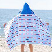Swimming Hooded Towel - Lanes