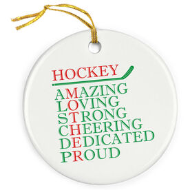 Hockey Porcelain Ornament - Mother Words